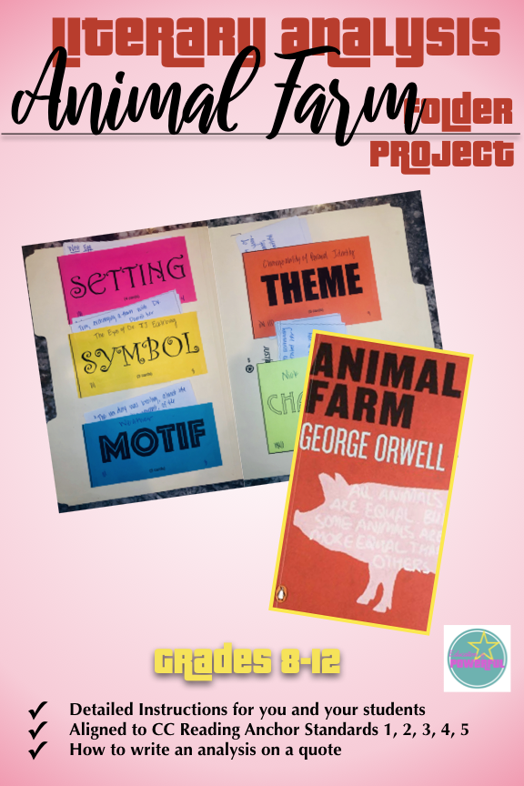 Help Student Understand Theme Symbol And Motif In George Orwell S Animal Through Thi Fold Teaching Literary Analysi High School Reading Essay On Writing