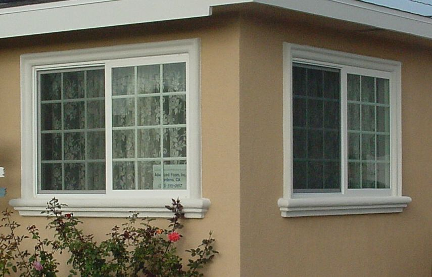 Window sills advanced foam inc home exterior ideas - How to repair exterior window trim ...