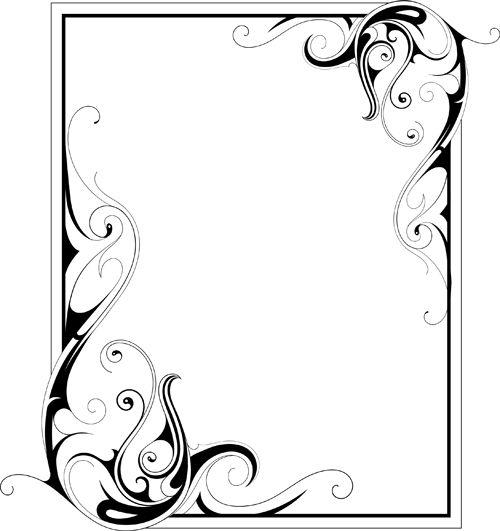 simple ornament frame vector material 02 | transfer | Pinterest ...