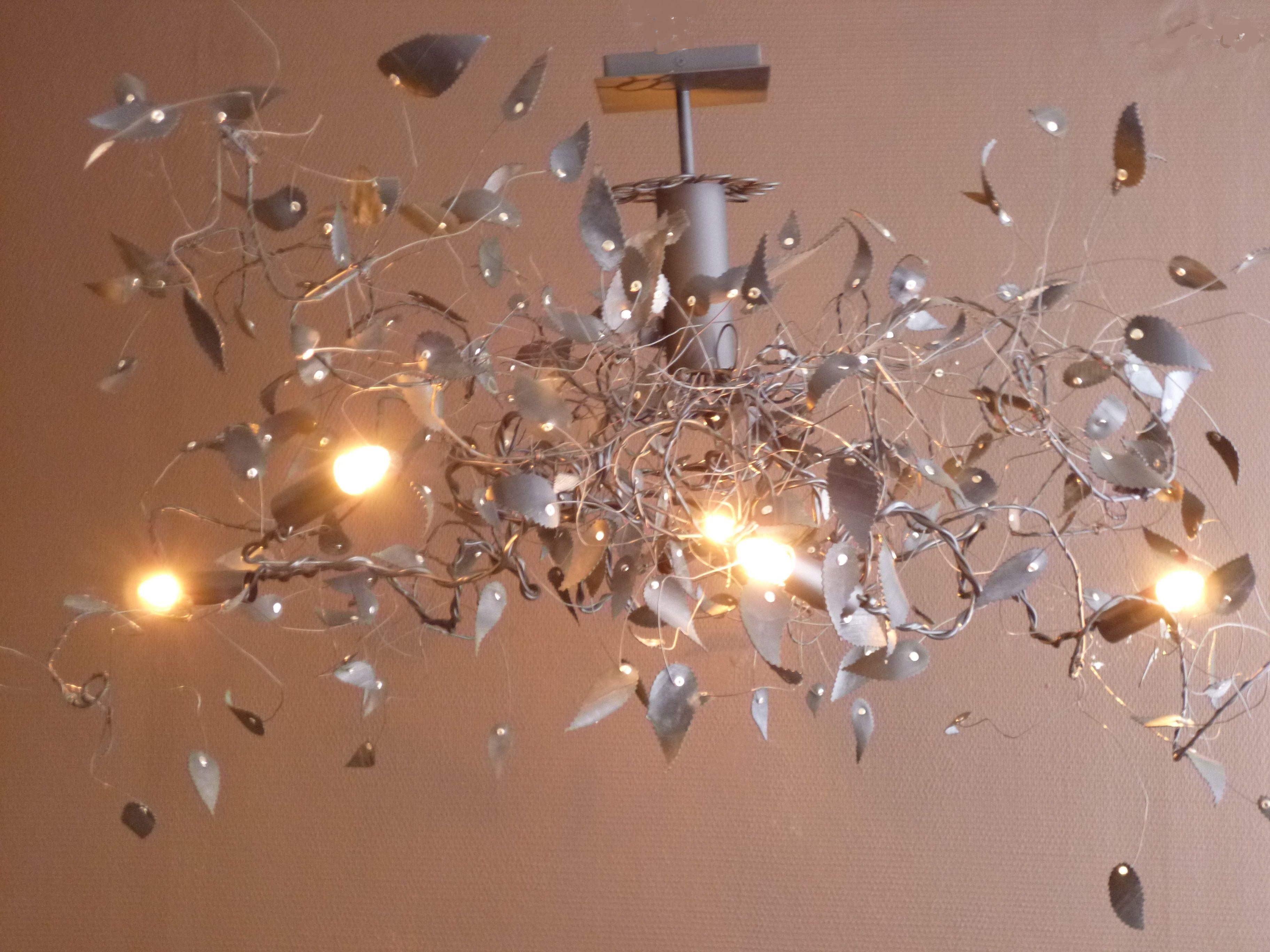 Lustre TOURBI Pneu 5 ampoules création La Boutique d Art Pétale en
