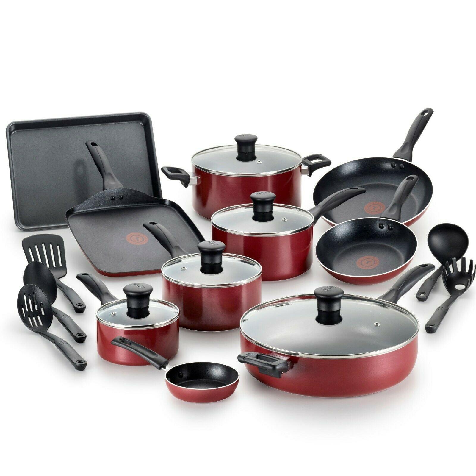20 Piece Red Cookware Set Dishwasher Safe Non Stick Oven Safe Cookware Sets Ideas Of Cookware Sets Coo Cozinha Vermelha Utensilios De Confeitaria Cozinha