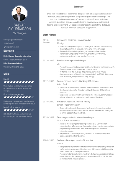 Resume Examples 2013 Interaction Designer  Innovation Lab Resume Example  Design .