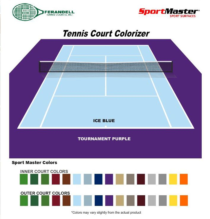 Real Time Online Tennis Court Colorizer Using Sport Master Paints Tennis Court Basketball Games Online Tennis