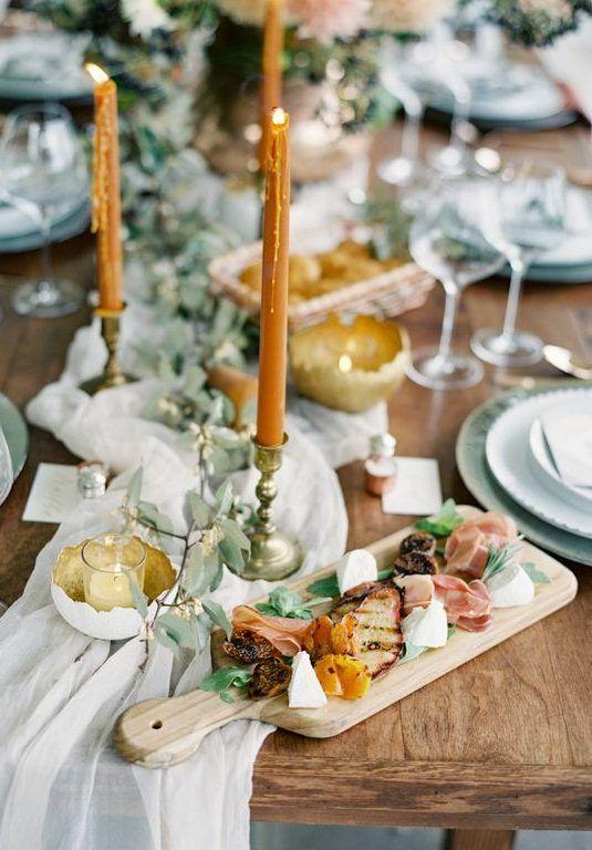 Свадьба в стиле Fine Art | Столы для свадьбы, Еда для ...