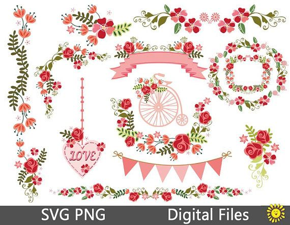 Svg png rose wedding decorations floral elements clipart vector home svg png rose wedding decorations floral elements clipart vector home party template decor cards scrapbooking 99vr junglespirit Images