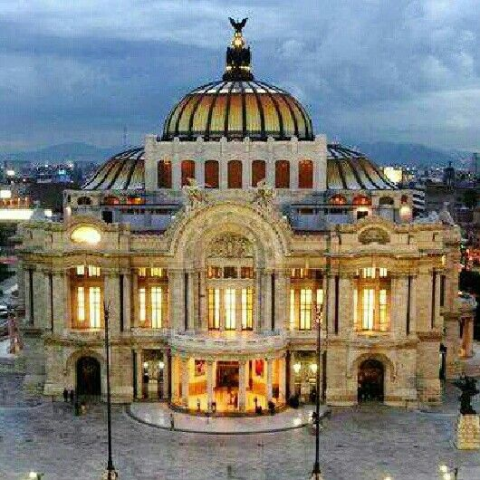 The Palacio de Bellas Artes is the most important cultural center in Mexico City as well as the rest of the country of Mexico