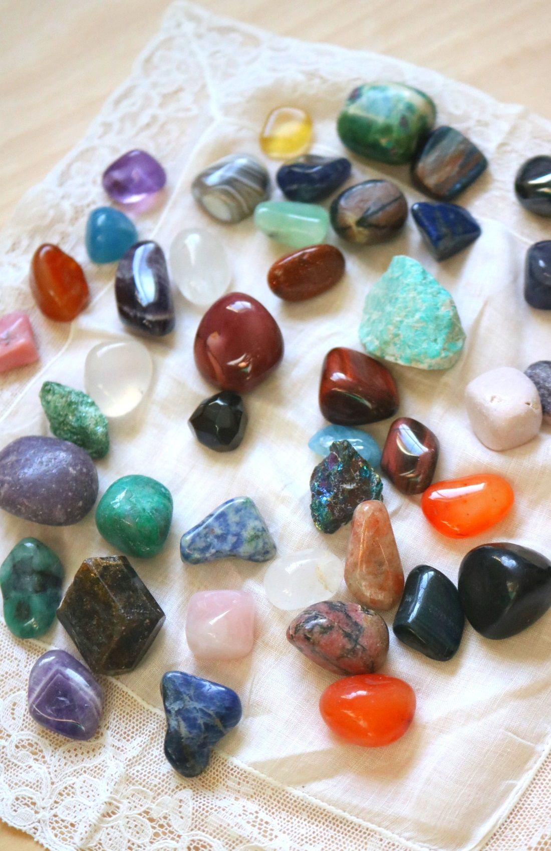Cleansing crystals with the moon spiritually inspired