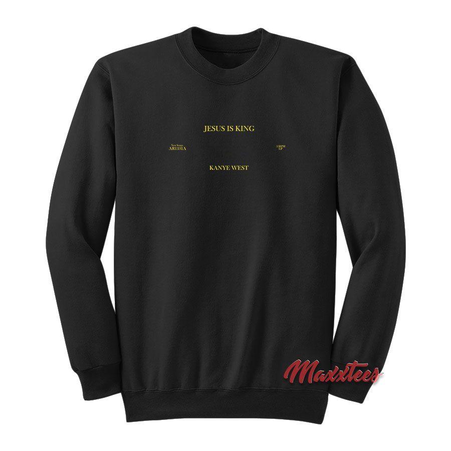 Jesus Is King Vinyl Kanye West Sweatshirt Sweatshirts Kanye West Sweatshirt Kanye West