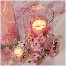 Wedding Idea Gallery Fun Ideas By Oriental Trading Candle Wedding Centerpieces Cherry Blossom Candle Cherry Blossom Wedding Theme
