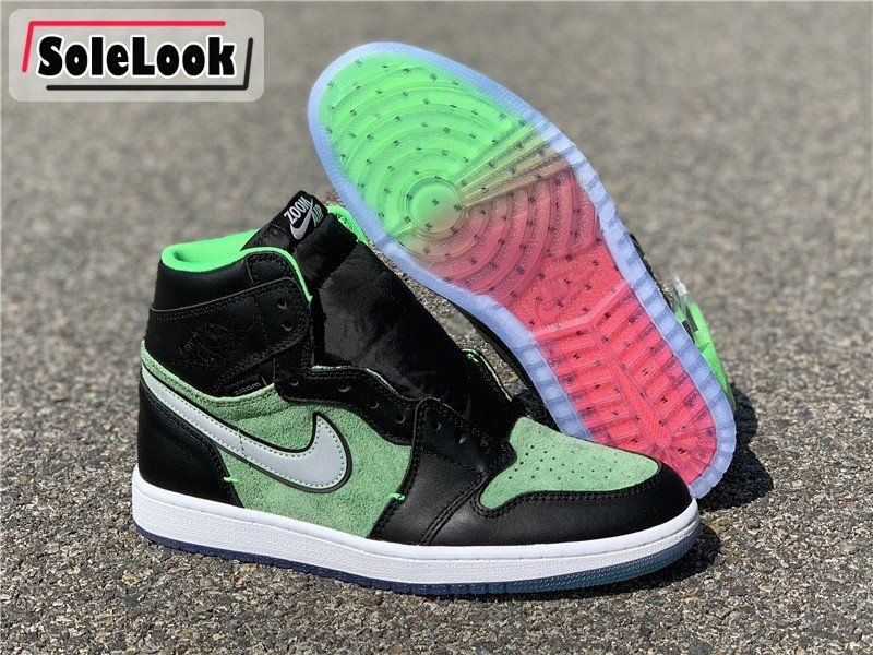 "2020 Air Jordan 1 High Zoom ""Rage Green"" CK6637002 On"