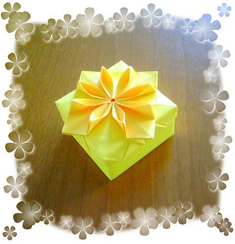 Origami flower box new version origami flowers flower boxes and origami flower box new version mightylinksfo