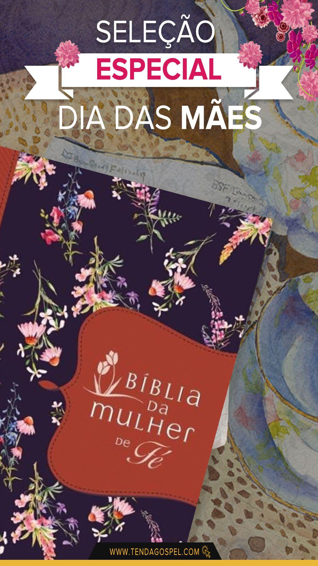 Biblia Da Mulher De Fe Nvi Capa Tecido Flores Sheila Walsh