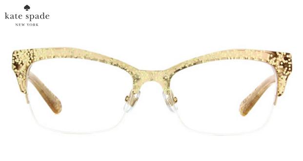 a78ef32ebb40 Kate Spade Gold Glitter Glasses | $200 | glasses.com | Wishlist in ...