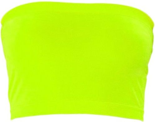 6b5cdbd178024 KMYSTIC - STRETCH - SEAMLESS - TUBE   BANDEAU BRA   TOP -- NEON YELLOW