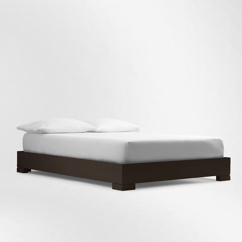 Chunky Wood Bed Frame Chocolate West Elm Bed Frame Wood Bed