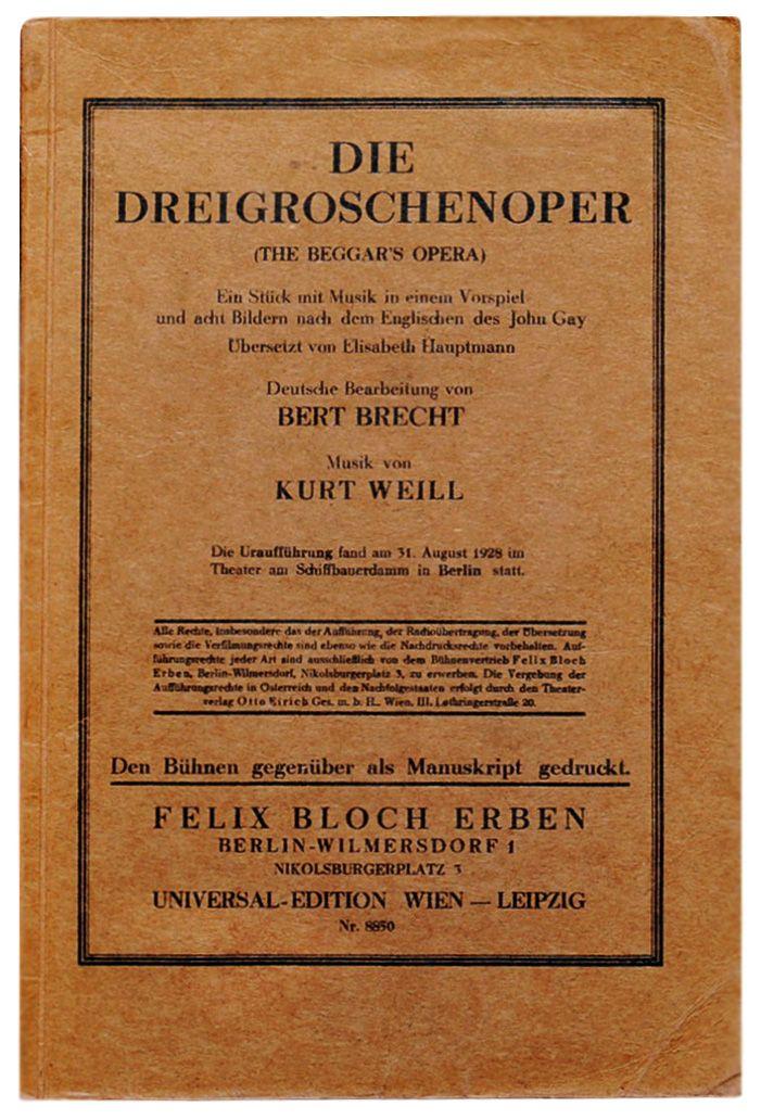 La ópera De Los Tres Centavos Wikipedia La Enciclopedia Libre La Opera De Los Tres Centavos Te Para Tres ópera
