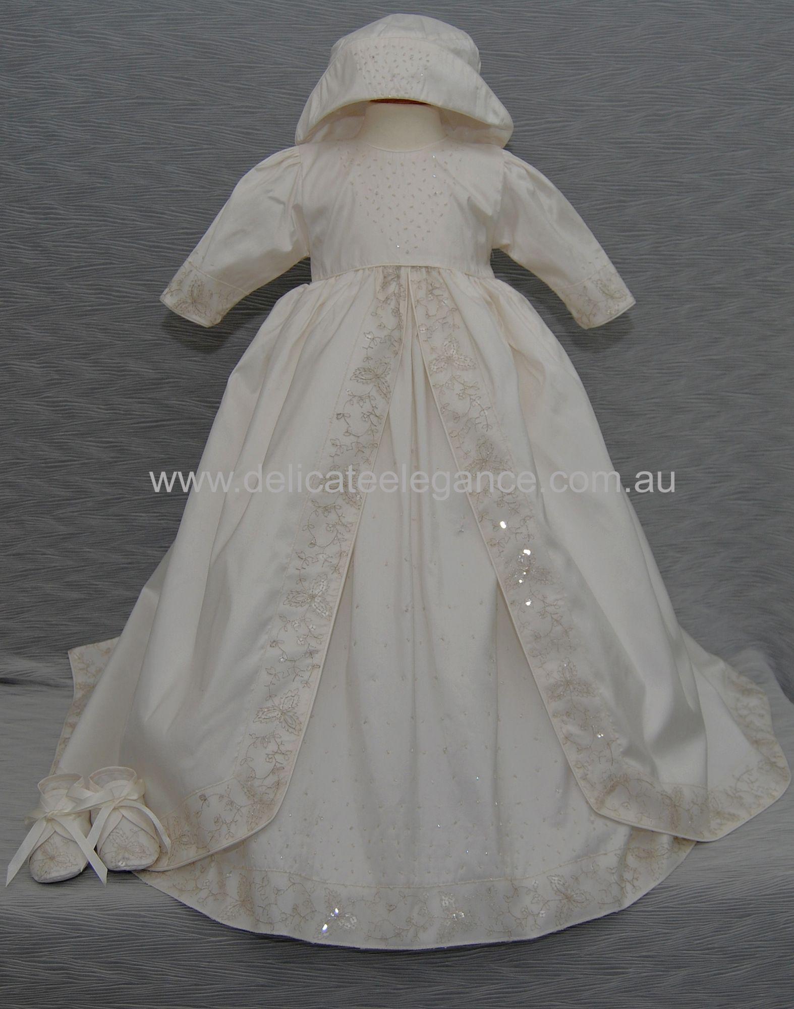 4204: 100% Silk Christening Gown