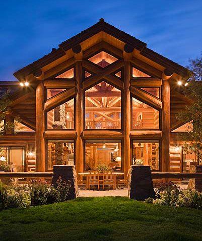 Modern log home plans