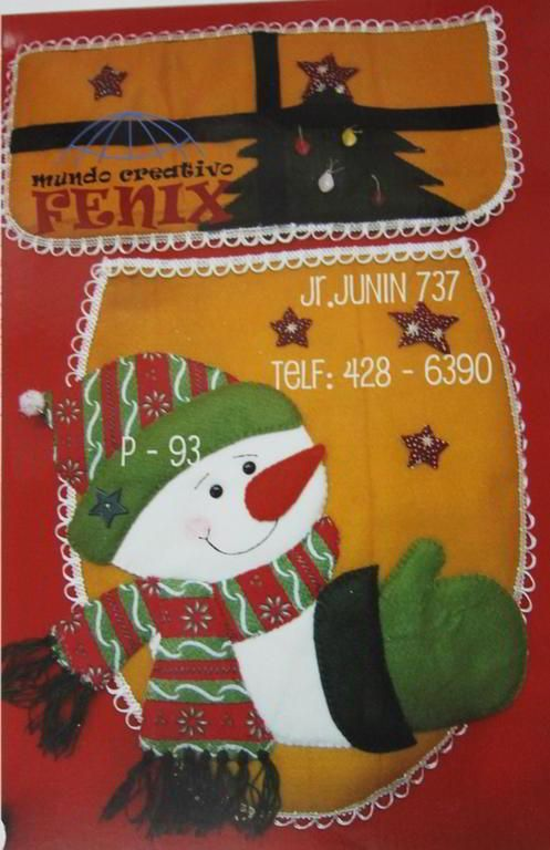 Patrones Moldes Juegos Para Navidad Fieltro Gratis