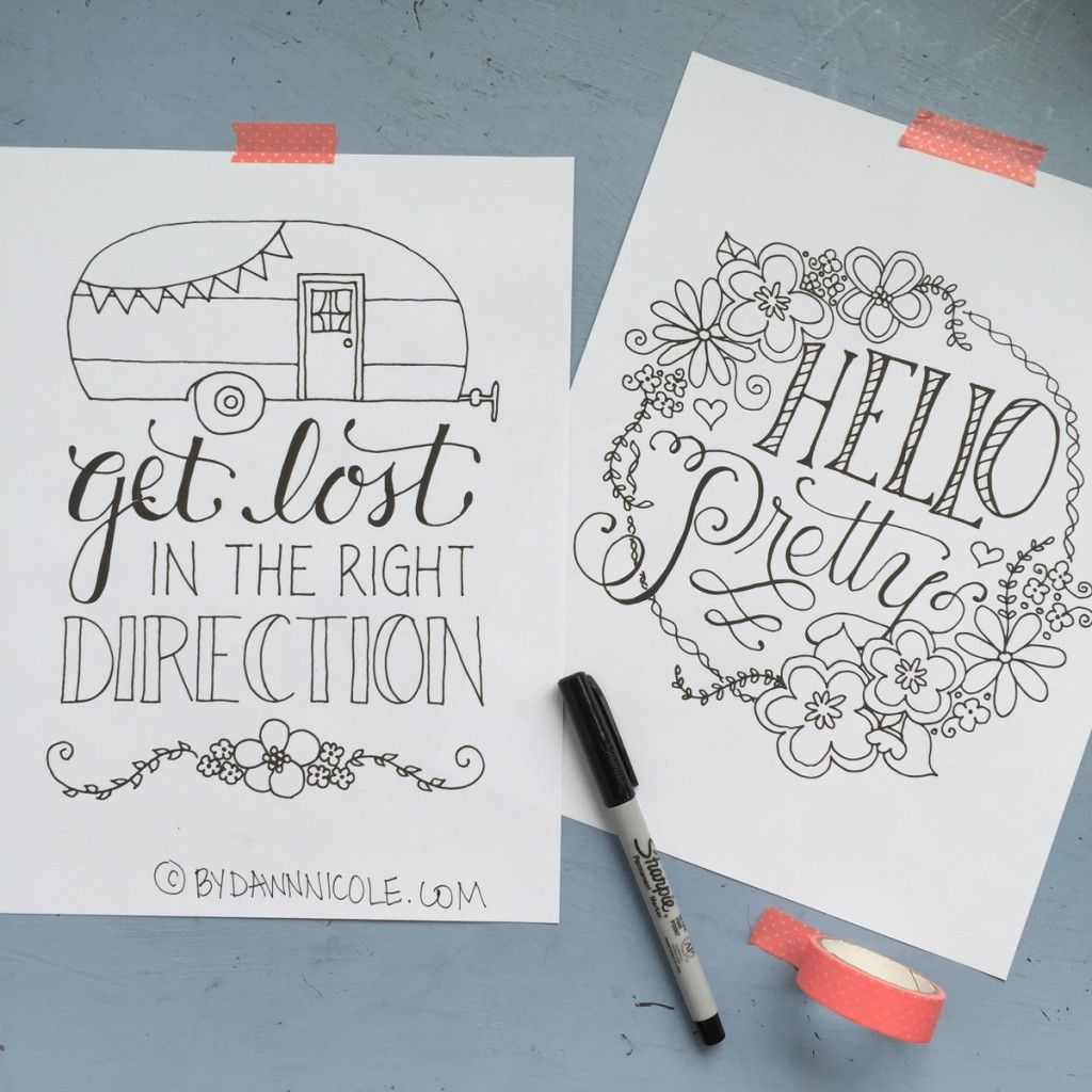 Color Me Inspired Vol 1 Inspirational Doodles And Journal