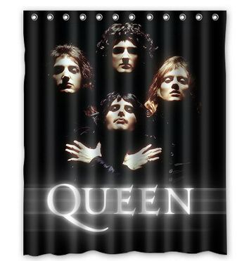 Music Polyester Fabric Shower CurtainRock Band Queen Simple Bathroom Home Decorations Size 150x180cm L 55