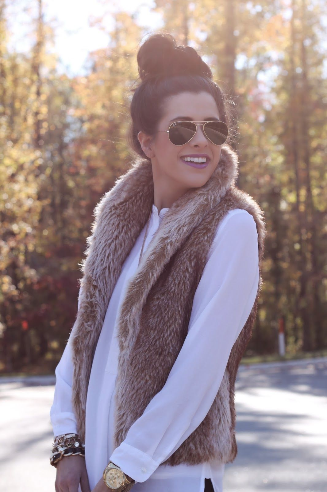 Found my moms old fur vest & it's just like this one. I'll be sure to make an outfit out of it. This will be so cute for the winter!