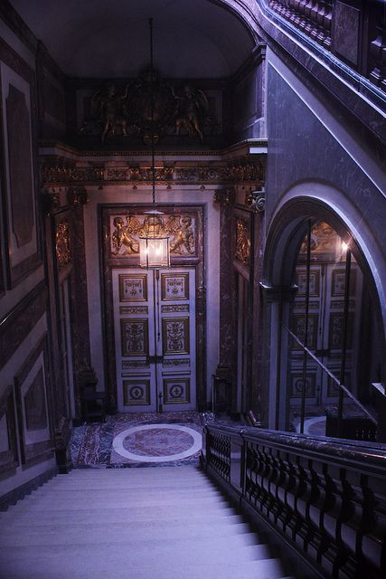 The staircase of chimay in the apartment of louis xv for Salle de bain louis xv versailles