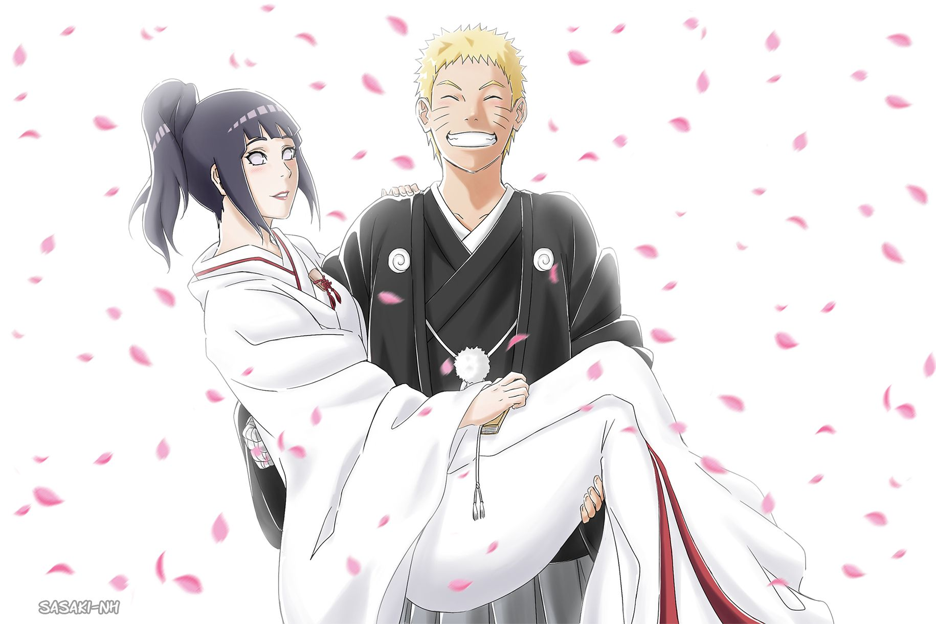 This is late.. Congrats on your Wedding Naruto and Hinata