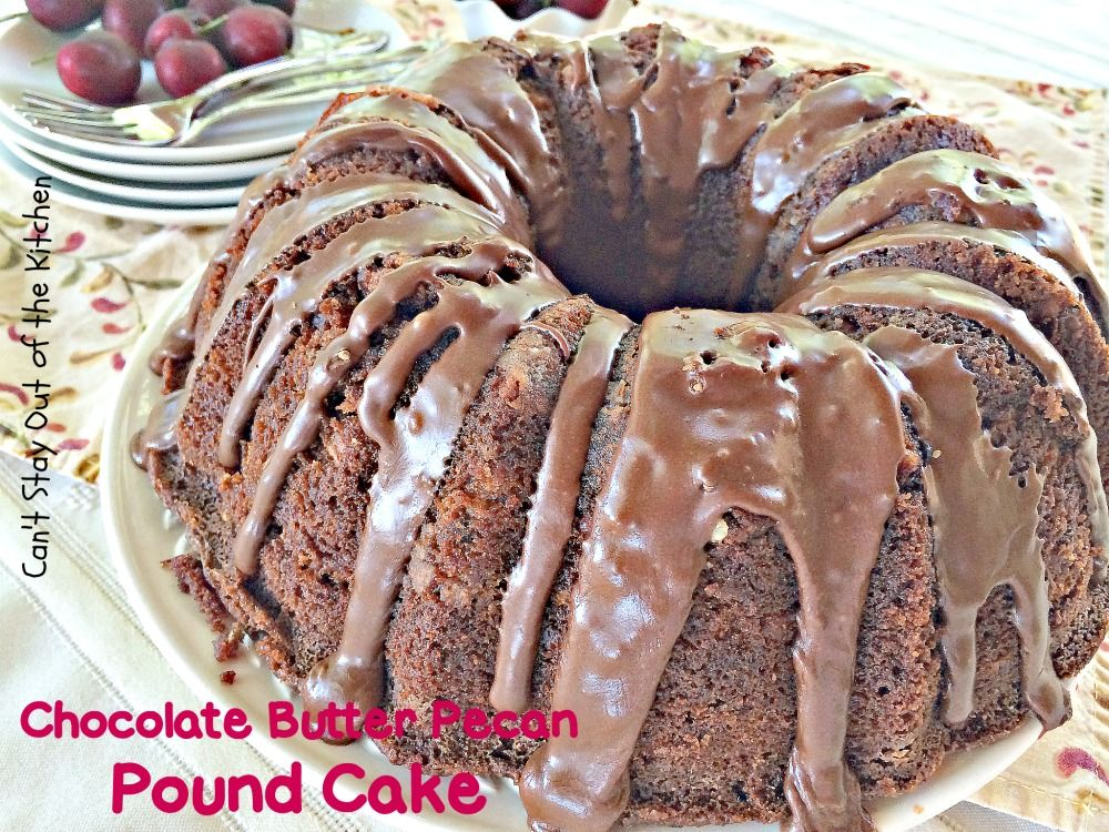 Chocolate butter pecan pound cake recipe desserts