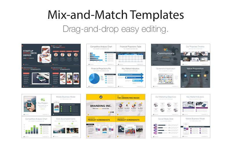 Pitch Deck Templates for Keynote by Deeda Designs Mac