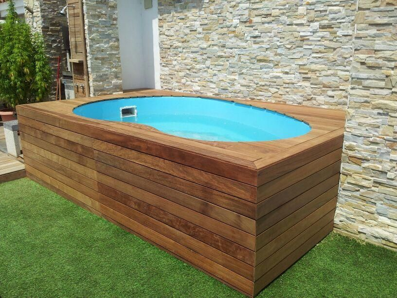 Piscina prefabricada barpool madera a3 terrassa - Estanque terraza piso ...