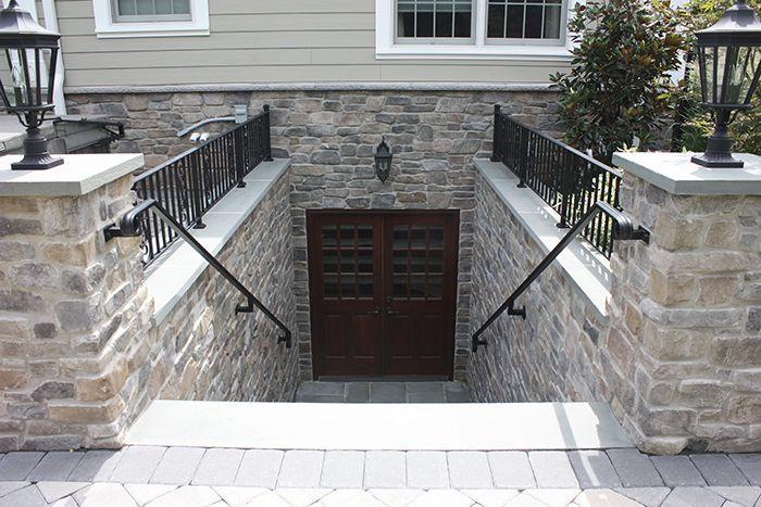 Attirant Walkout Basement Doors | Walk Out Basement Copper Chimney Pots Kitchen