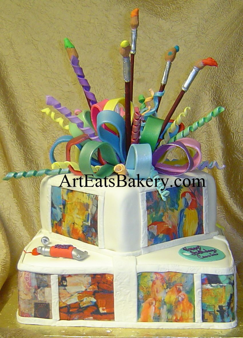 Cake Ideas For Artist : Art Eats Bakery unique birthday cake designs on Pinterest ...