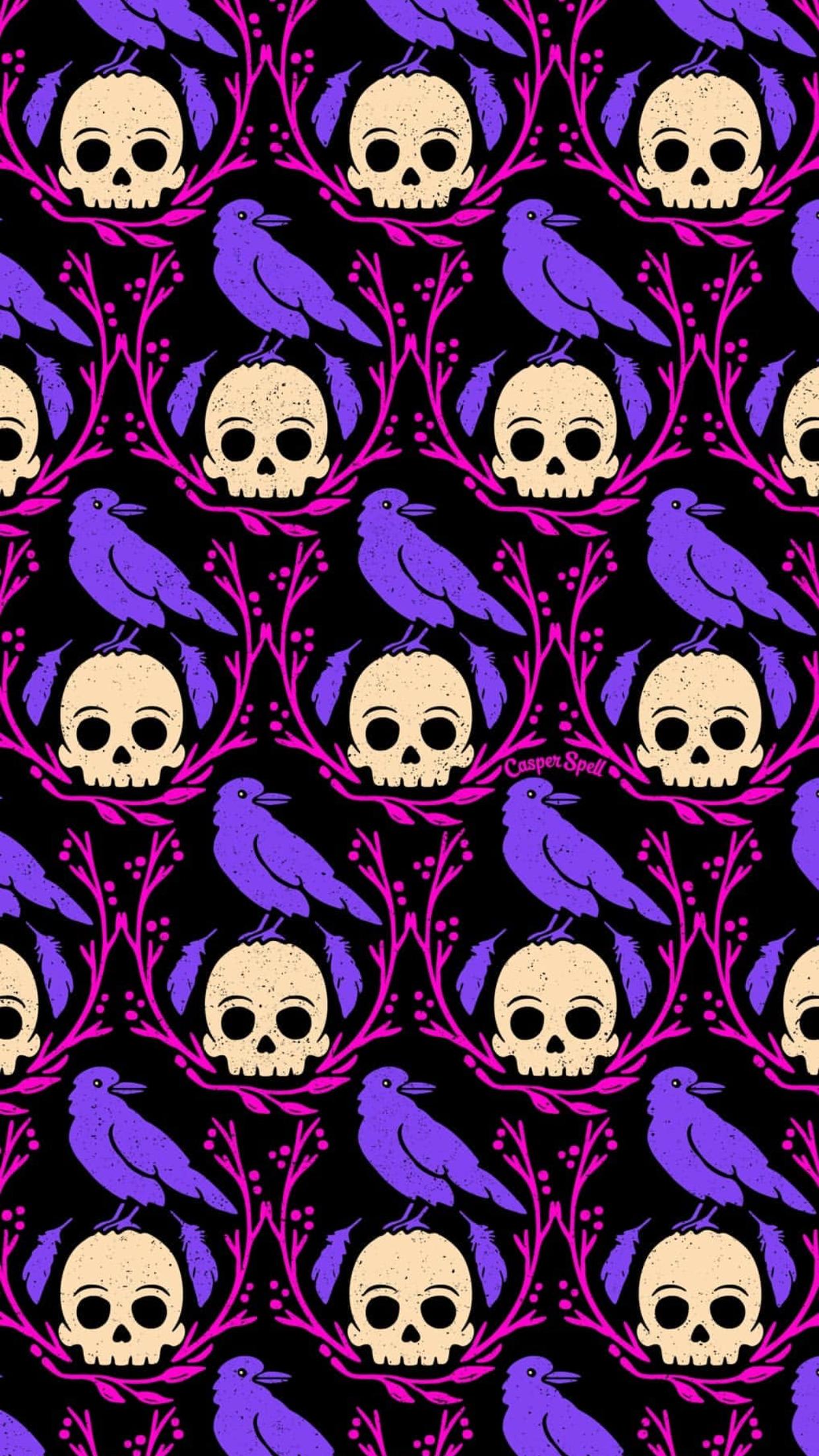 Raven Skull Never More By Artist Casper Spell Halloween