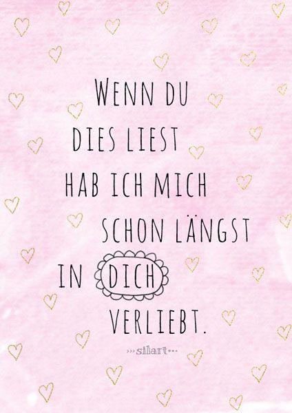 Verliebt, Love Lettering Card, Quote Art, Word Art, Statements ...