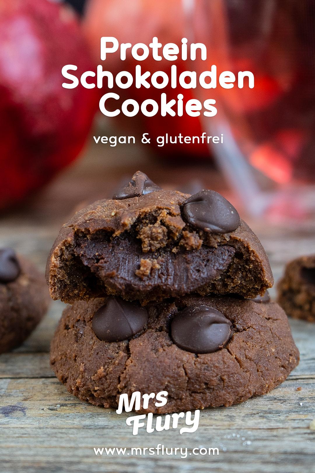 a33839c7b0 Schoko Protein Cookies vegan #mrsflury Mrs Flury gesunde Kekse, gesund  backen, einfach, proteinreich, glutenfrei, ohne Mehl, Schokokekse,  Schokolade, ...
