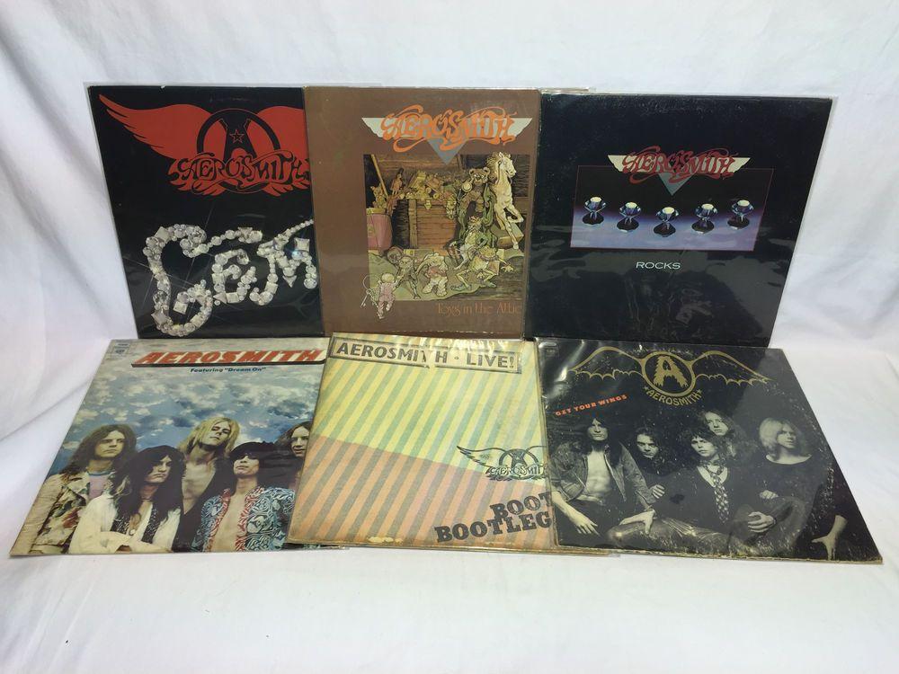Aerosmith Vinyl Record Lp Lot Gems Toys Attic Rocks Dream On Get Your Wings Vinyl Records Aerosmith Vinyl
