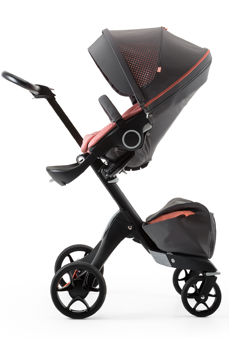 Stokke Xplory Athleisure Stroller Black Frame Baby