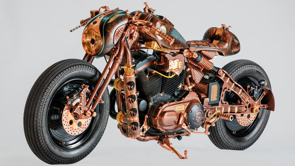 La Harley Davidson Sportster 883 ha sido customizada por Game Over