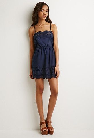 Embroidered Babydoll Dress | Forever 21 - 2000098493
