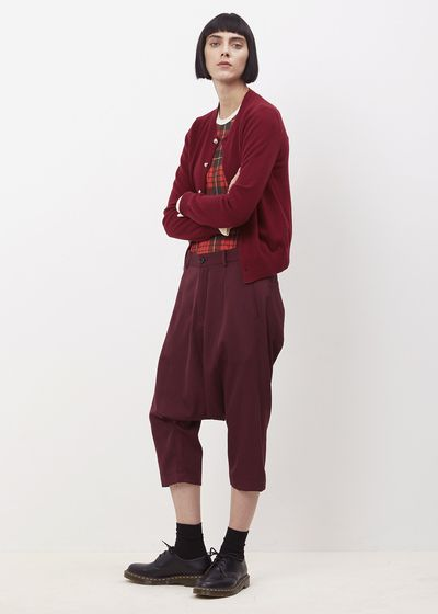 Comme des Garcons GIRL Crew Charm Button (Burgundy)