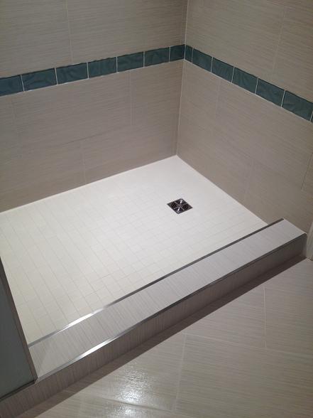 Clearwater Beach Florida Condo Master Bath Shower 12x24