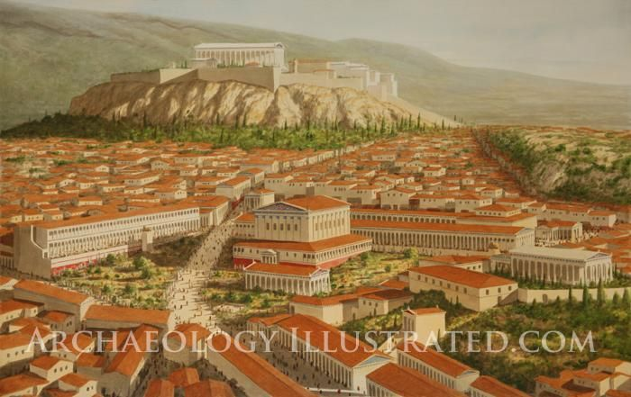 Athenian Forum in the 1st century AD