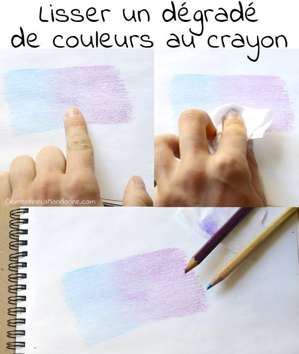 Colorier De Jolis Degrades Au Crayon De Couleur Tutoriels Pour