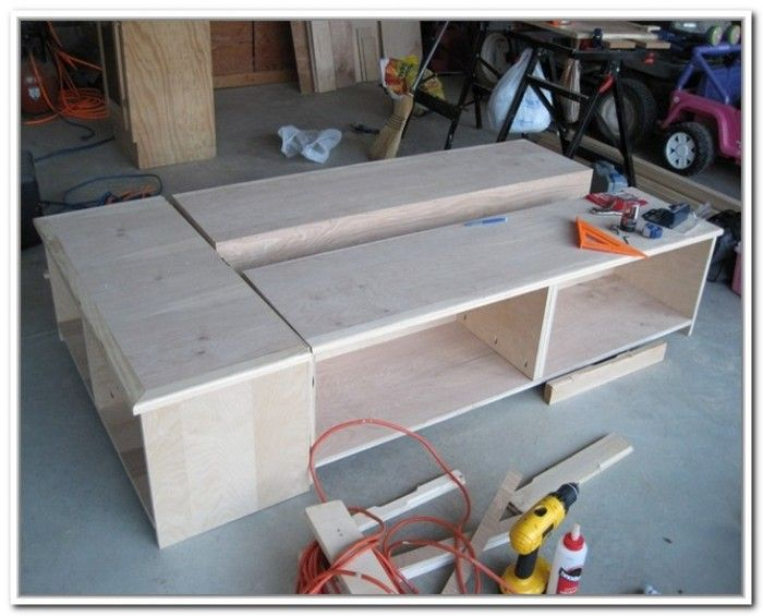 How To Build A Twin Bed Frame With Storage Bunk Beds Pinterest