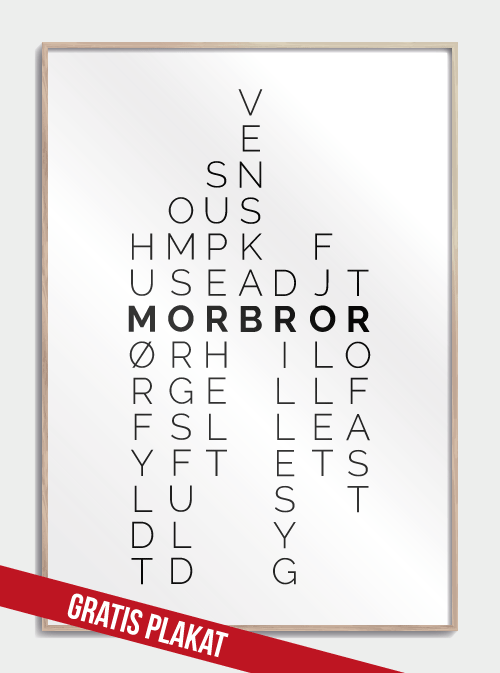 Gratis Morbror Plakat Julegaver Du Kan Printe Selv In 2020 With Images
