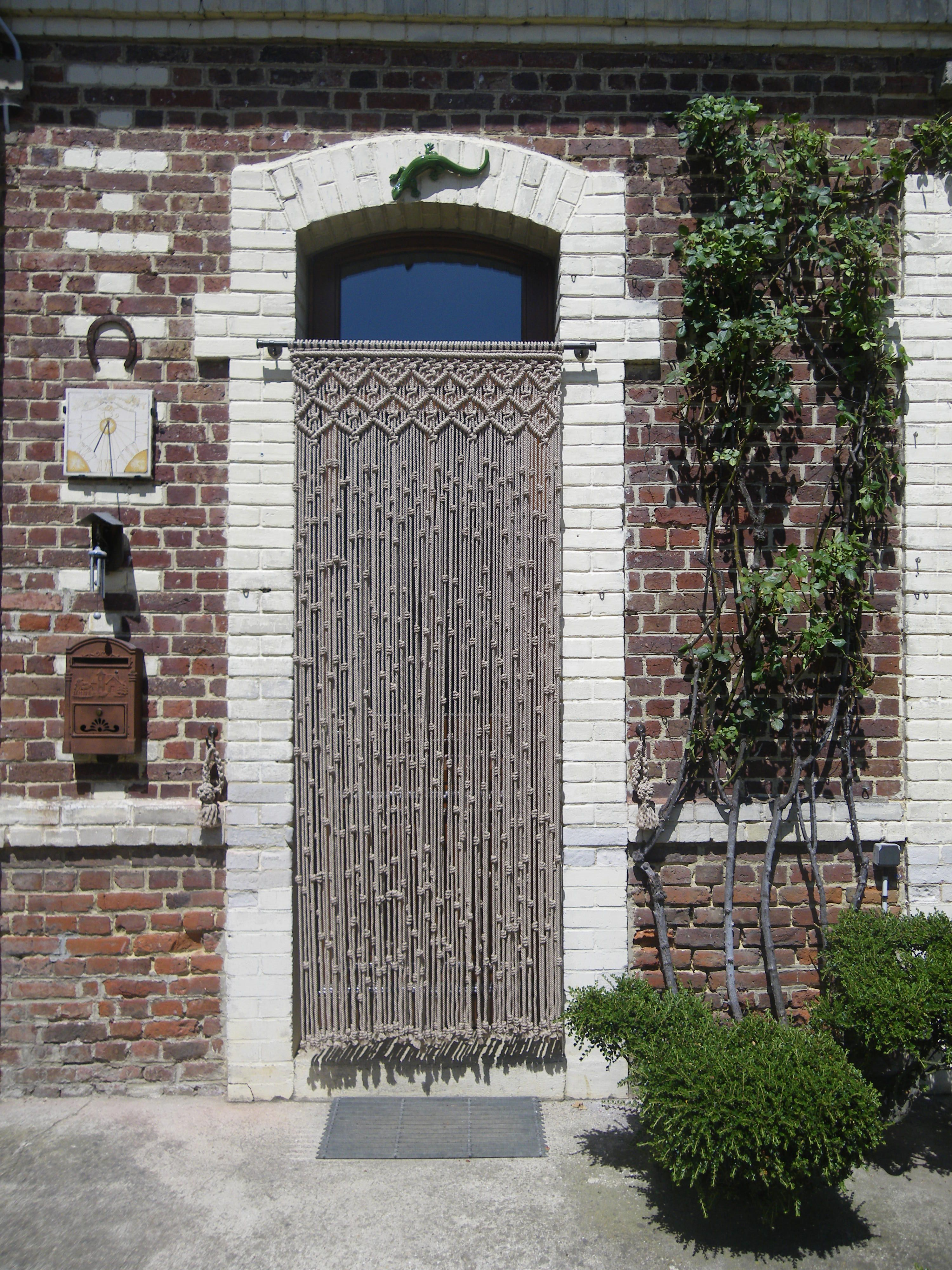Cortina puerta exterior de macram macrame pinterest for Cortinas de exterior