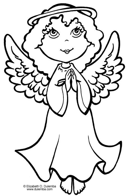 angels coloring pages | free coloring pages online for girls ...