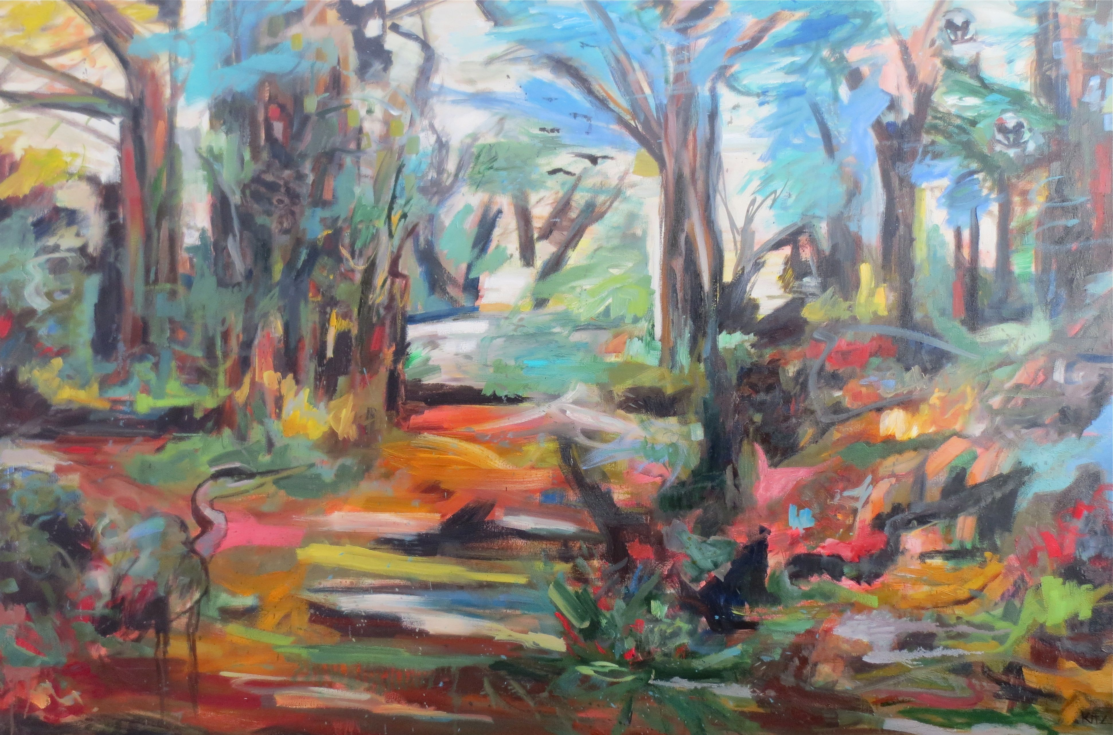Abstract Landscape Painting Hide And Seek By Kim Ford Kitz Kimfordkitz Com Painting Landscape Paintings Art Prints