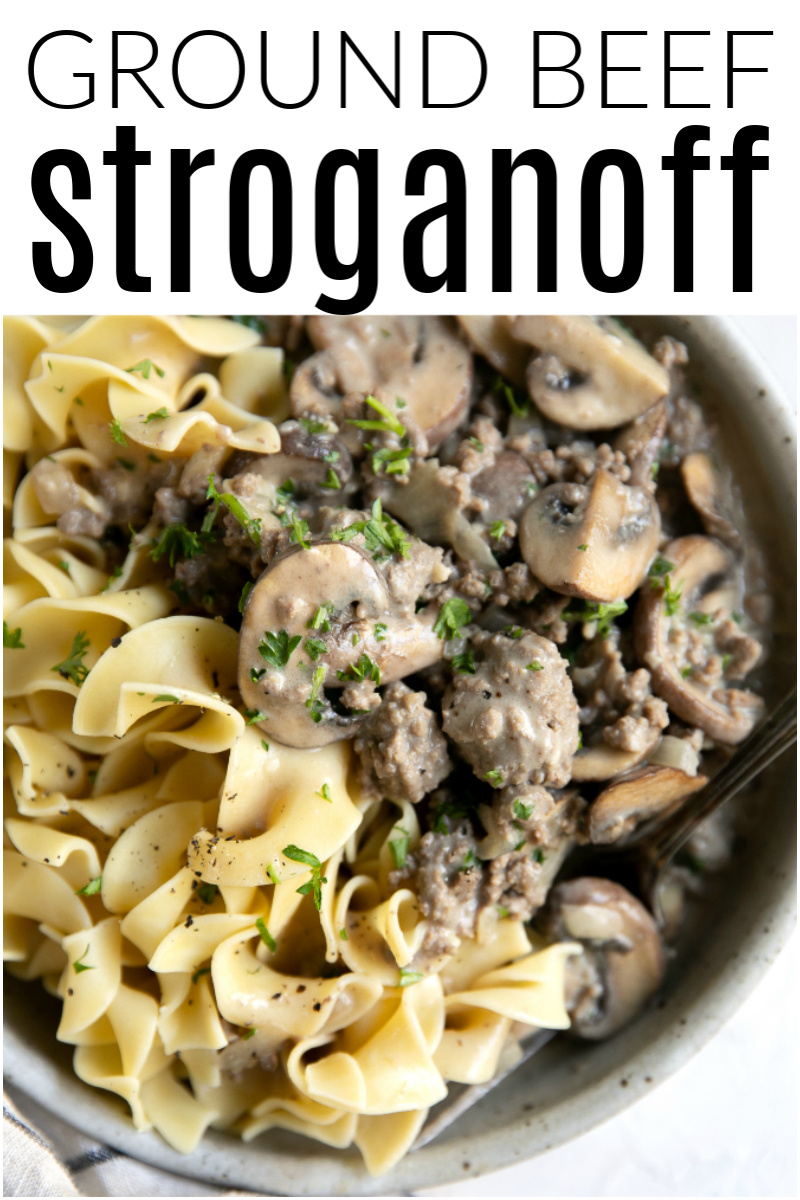 Hamburger Stroganoff Recipe Ground Beef Stroganoff The Forked Spoon Recipe In 2020 Hamburger Stroganoff Hamburger Stroganoff Recipe Beef Stroganoff
